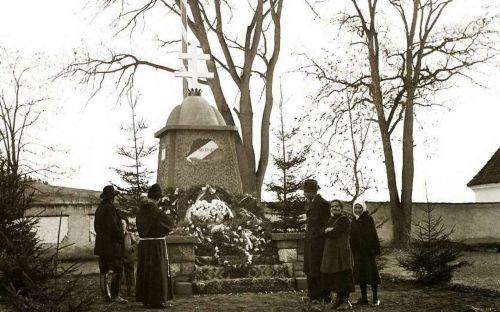 Csiksomlyó:országzászló,1940.