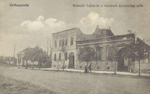 Kossuth Lajos út a románok kivonulása után,1916.