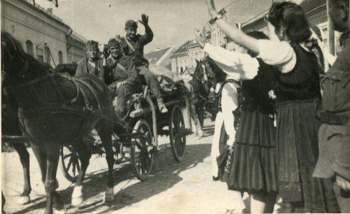 Magyar honvédek bevonulása,1940.