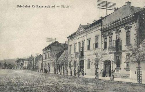 Csikszereda:piac tér a Kossuth Lajos utcában.1911