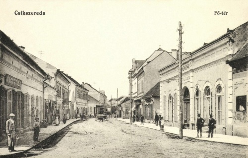 Főtér:Europa szálloda és Nagy Gyula üzlete,1916.