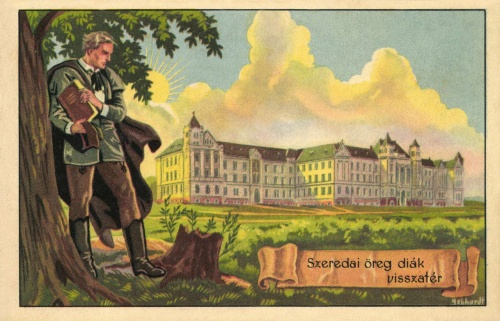 Szeredai öreg diák visszatér,1920 körül.