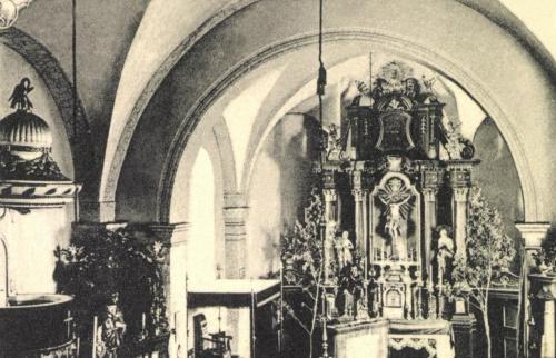 Csikszereda:oltár a katolikus templomban,1905.