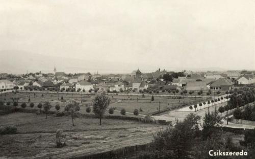 Csikszereda:látkép a Kossuth utca felé,1943.