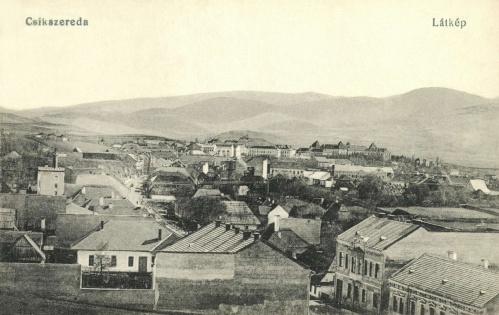 Csikszereda:látkép,balra a régi sörgyár,1918.