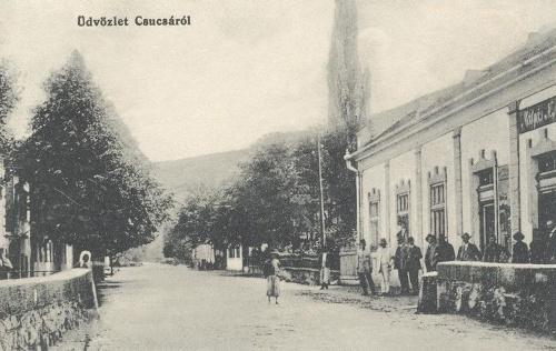 Csucsa:fő utca üzlettel.1912