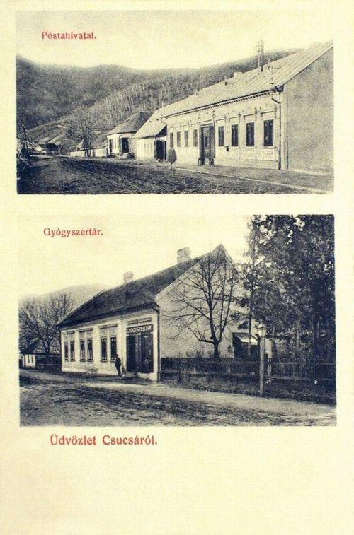 Csucsa:Posta és Gyógyszertár.1907