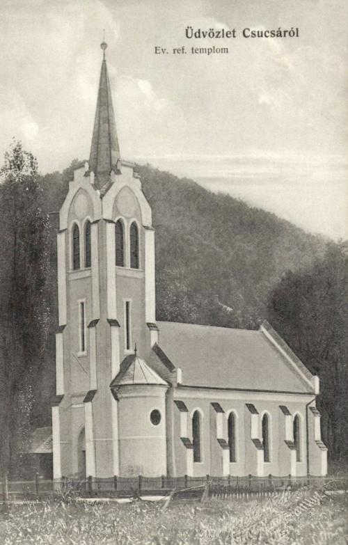 Csucsa:református templom,1916.