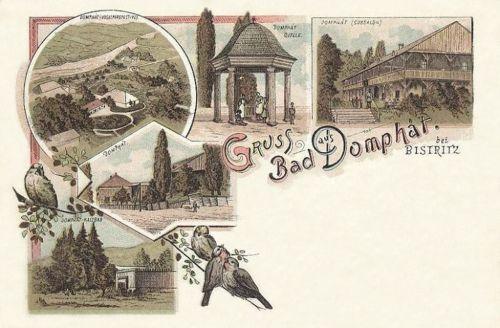Dombhát fürdő:cursalon,hidegfürdő.1899