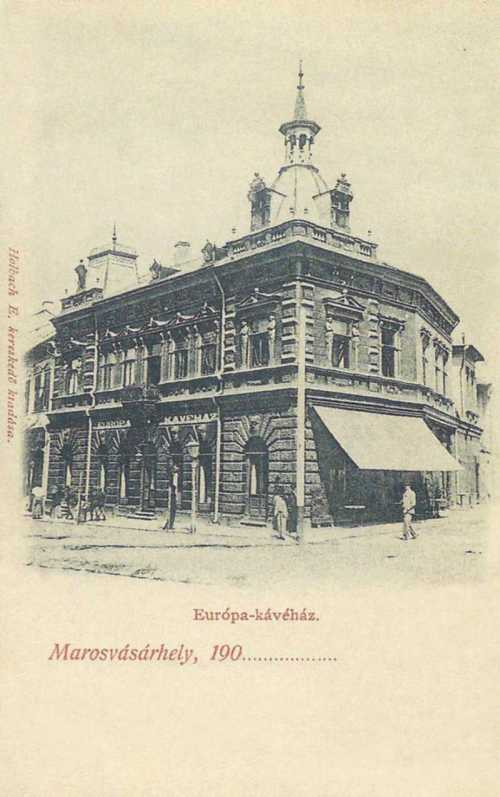 Marosvásárhely:Europa kávéház,1901.
