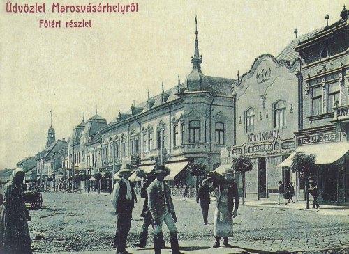 jobbra Hirch Mór könyv-papir üzlete és nyomdája,1907