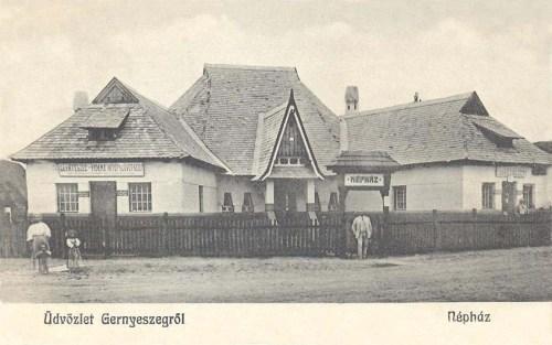 Gernyeszeg:Népház és Hitel Szövetkezet.1914