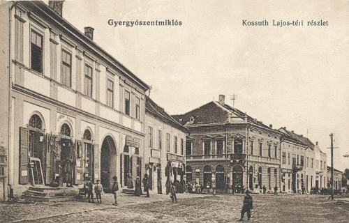 Gyergyószentmiklós,Kossuth téri részlet 1915