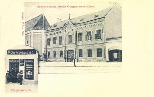 Irgalmas nővérek zárdája,Kricsa Péter könyvkereskedése,1902.
