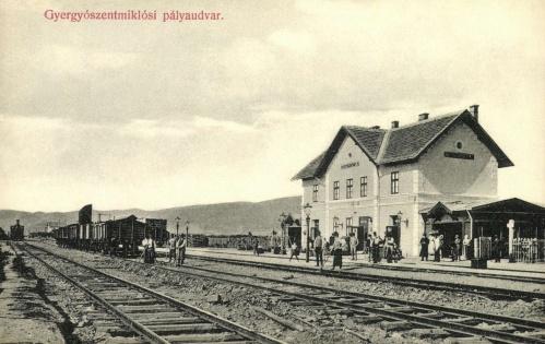 Gyergyószentmiklós:pályaudvar,1908.