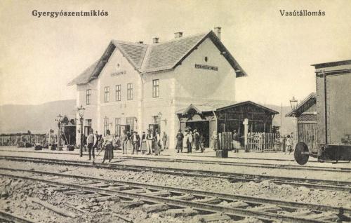 Gyergyószentmiklós:vasútállomás,1908.