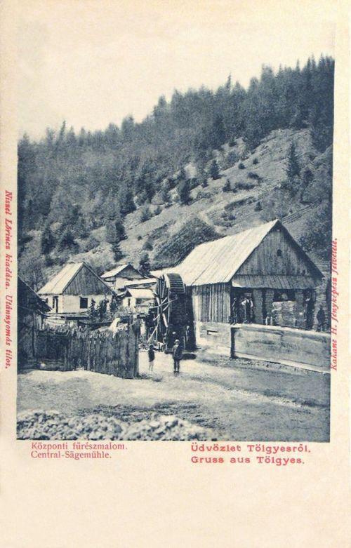 Gyergyótölgyes:központi fűrész malom.1902