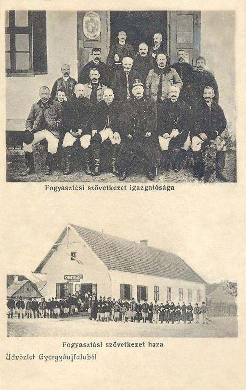Gyergyóújfalu:Fogyasztási Szövetkezet háza és igazgatósága.1915