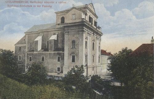 Gyulafehérvár-Karlsburg-Alba Iulia:Batthyányi könyvtár a várban.1913