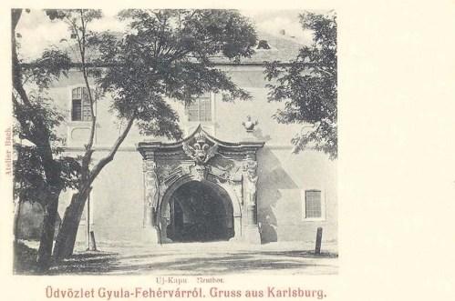 Gyulafehérvár:új várkapu.1904