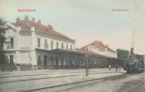 Gyulafehérvár:vasútállomás.1909