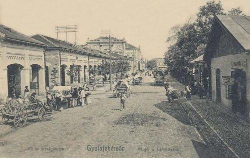 Gyulafehérvár:Fő és ország út hetivásár idején.1907