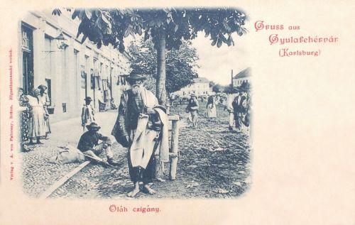 Gyulafehérvár:oláh cigány a piacon.1899