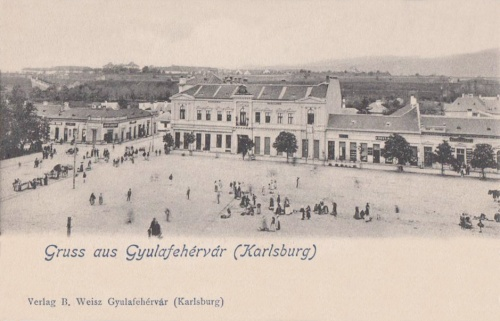 Gyulafehérvár:Főtér a Hungária szállodával.1903