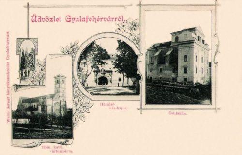 Gyulafehérvár:katolikus székesegyház,csillagvizsgáló,várkapu.1898