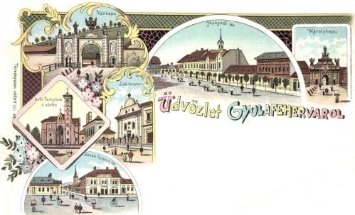 Várkapu,Hunyadi-tér,Károly-kapu,Székesegyház,zsidó templom,1899.