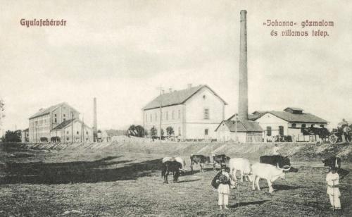 Gyulafehérvár:Johanna gőzmalom és villanytelep,1908.