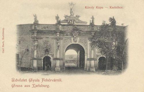Gyulafehérvár:Károly kapu.1900