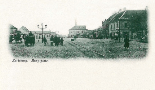 Gyulafehérvár:főtér.1902