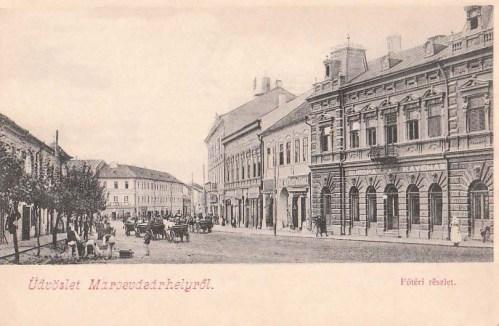 Marosvásárhely:jobbra Europa Kávéház.1903
