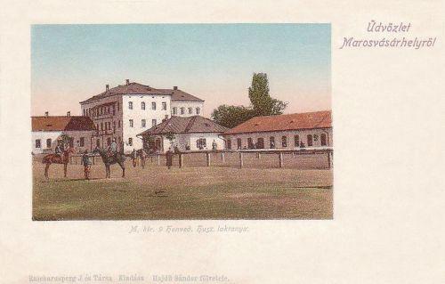 Marosvásárhely:Magyar Királyi 9 Honvéd huszár laktanya.1902