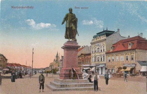 Marosvásárhely,Bem József szobra 1913