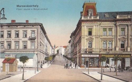 Marosvásárhely:Bolyai utca,jobbra a Transilvania Hotel.1914