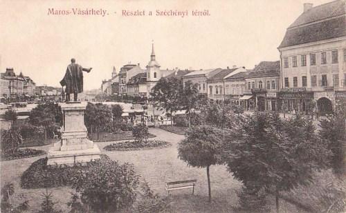 Marosvásárhely:Széchenyi tér és Kossuth park.1910