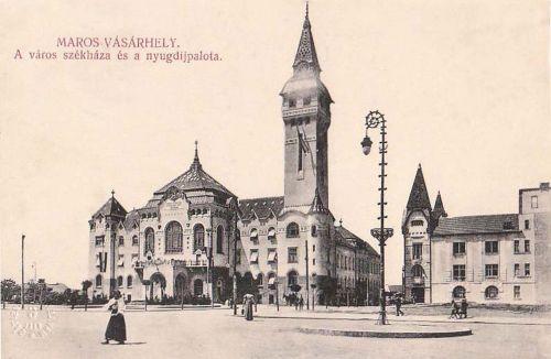 Marosvásárhely: új városháza és Nyugdijpalota.1911