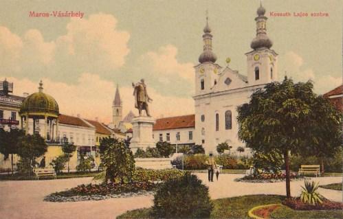 Marosvásárhely:Kossuth Lajos szobra.1909