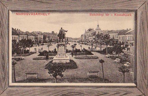 Marosvásárhely:Széchenyi tér,Kossuth park.1911