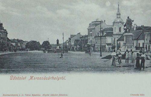 Marosvásárhely:Bem József és Kossuth Lajos szobra.1900