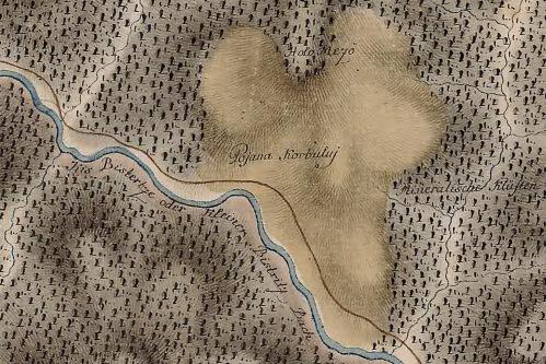 Gyergyóholló (Holló):Holó Mező térképe 1769-1773 között.