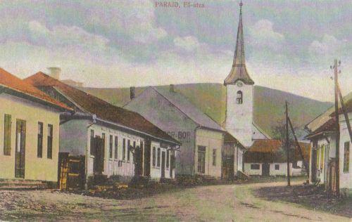 Parajd:fő utca és templom.1913