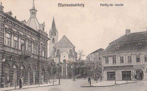 Marosvásárhely,balra az Europa kávéház 1913