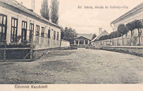 Kackó:Állami Iskola,óvoda és Székely villa.1916