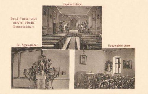 Szent Ferenc rendű nővérek zárdája:kápolna,szent Ágnes szobor.1908