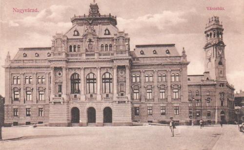 Nagyvárad:Városháza és Vármegyeháza.1909