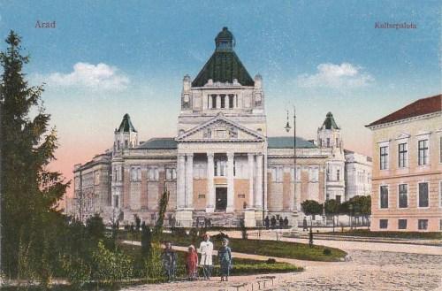 Arad:Kulturpalota,főbejárat.1912
