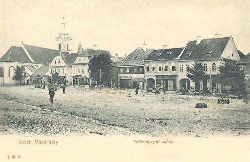 Kézdivásárhely:főtér nyugati oldala.1904